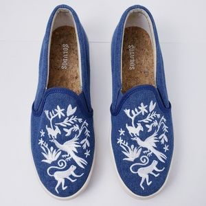 SOLUDOS Otomi Shoes Anthro Slip On Embroidered 6